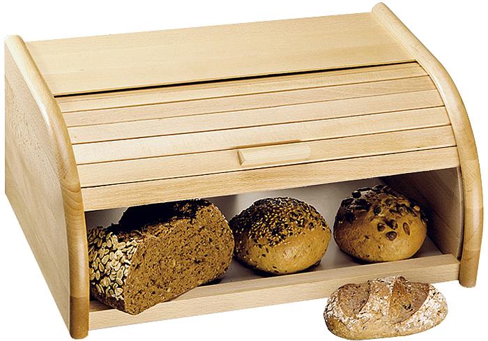 """Хлебница """"Kesper"""", выполненная из натурального дерева, позволит сохранить ваш хлеб свежим и вкусным.  Стильный дизайн изделия выгодно дополнит любой кухонный интерьер.   Хлебница надолго сохранит свежесть, мягкость, аромат хлеба и других хлебобулочных изделий."""