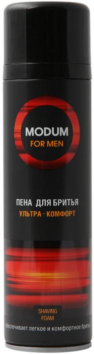 Modum Пена для бритья ультра-комфорт серии Modum For Men, 200 млB076-402Действительно делает бритье ультра-комфортным. Обильная пена равномерно распределяется, бритье становится лёгким даже в труднодоступных местах. Пена оказывает увлажняющее и охлаждающее действие, тонизирует и освежает кожу, благодаря наличию активного комплекса: ментол, D-пантенол, витамин Е.