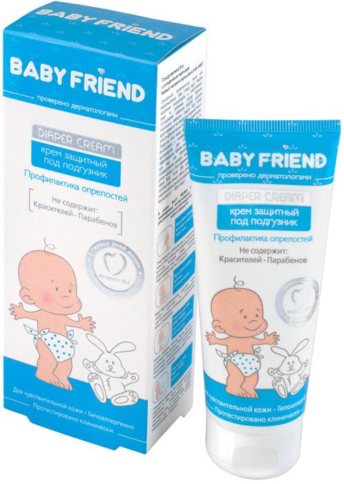 Modum Крем Baby Friend защитный, под подгузник, 75 млE091-204Кожа малыша нуждается в особом уходе с первых дней жизни. Особенно важно защищать нежный кожный покров в местах возможного продолжительного трения и контакта с влагой (в районе подгузника, в шейных складочках, в подмышках). Крем содержит специальные компоненты, создающие барьерный защитный слой на коже, поддерживая долговременную целостность гидро-липидной мантии: Пчелиный воск и Ланолин смягчают и защищают; Оксид цинка препятствует размножению бактерий и подсушивает кожу; экстракт Ромашки, Аллантоин и D-пантенол успокаивают, увлажняют кожу, способствуют скорейшему заживлению возможных повреждений, Масло персика и Витамин F питают, сохраняя кожу малыша мягкой, нежной и здоровой. В ходе клинических испытаний, при нанесении крема на кожу ягодиц с признаками воспаления, детям от 6 месяцев до 1 года, в течение 25 дней, было выявлено снижение выраженности эритемы (покраснения) на 42%, что является признаком выраженного противовоспалительного действия.