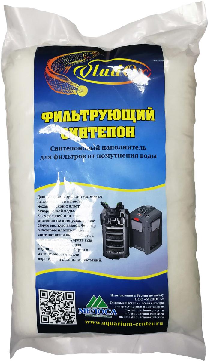 Синтепон фильтрующий VladOx, для тонкой очистки воды, в пресноводных и морских аквариумах, 500 г корм вака высокое качество просо для птиц и грызунов 500 гр