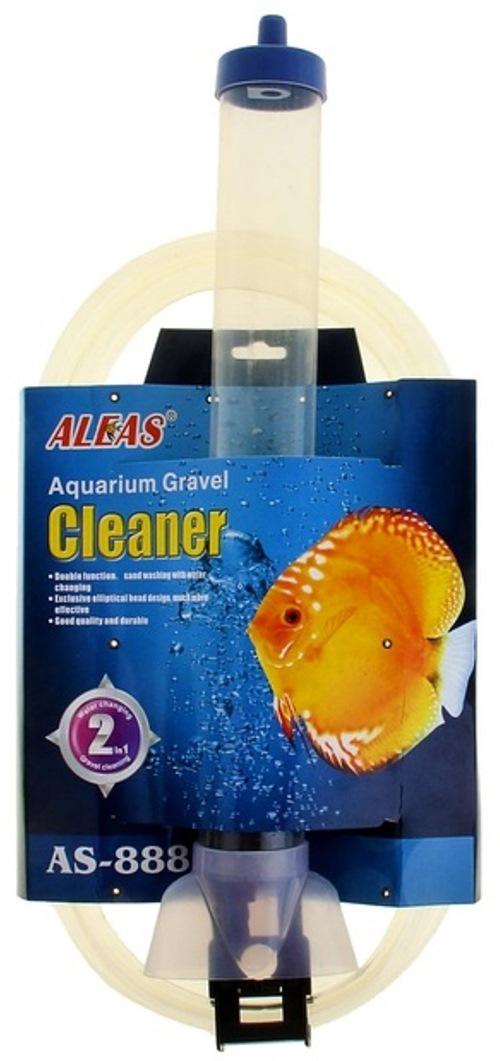 Очиститель грунта Aleas, в наполненном аквариуме, с функцией самостарта, высота колбы 40 см