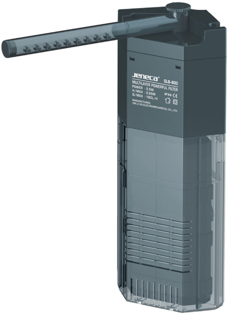 Фильтр внутренний Aleas, угловой, с флейтой, 180 л/ч внутренний фильтр с флейтой barbus 600 л ч 8 вт