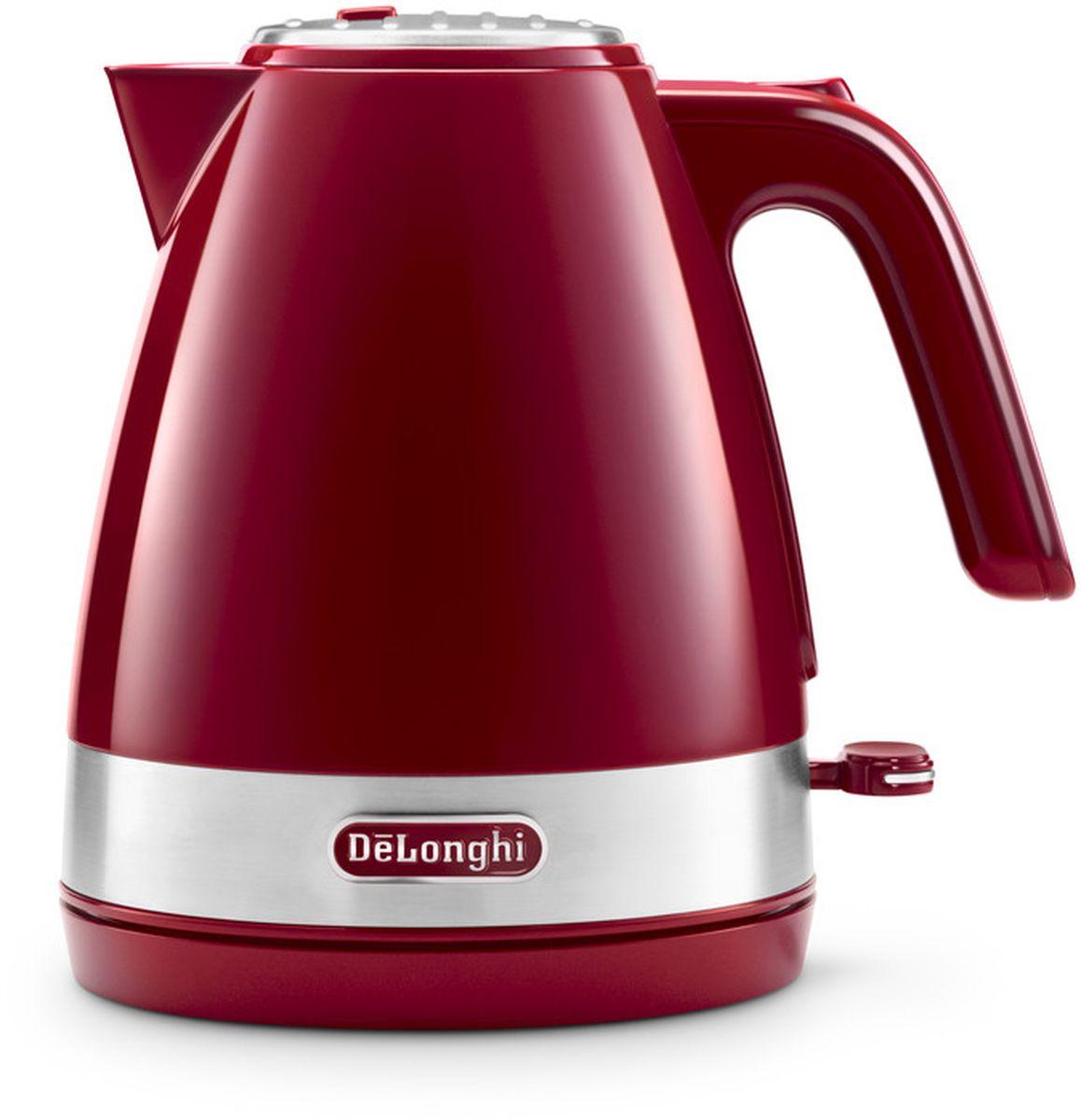 DeLonghi KBLA2000, Red чайник электрический кофемашина delonghi ecam 45 760 w белый