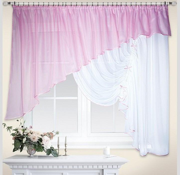 Штора Nivasan Джульетта, правая, на ленте, цвет: розовый, высота 170 см, ширина 400 см24301Шторы из легкой, воздушной вуалевой ткани великолепно выглядят в большинстве интерьеров, привнося в них изящество и элегантность. В отличии от органзы вуаль обладает плотной структурой и особой мягкой фактурой.