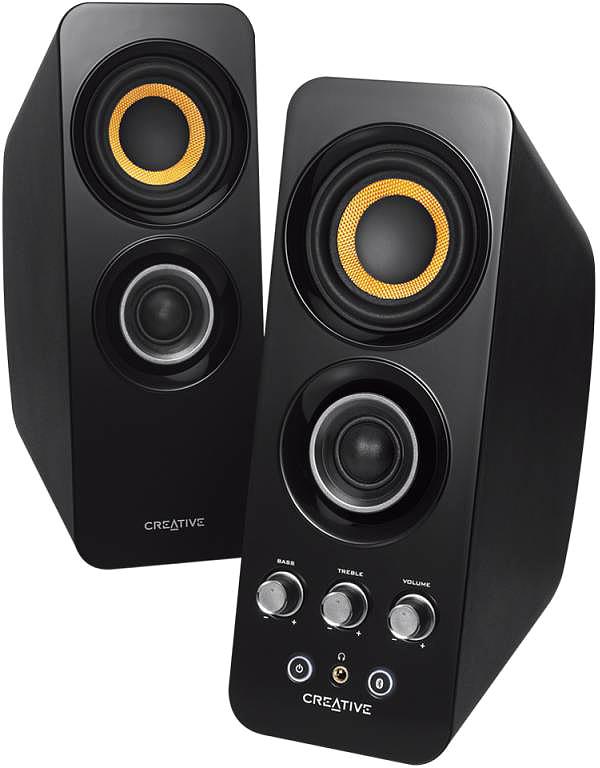 Creative Signature T30, Black беспроводная акустическая система51MF1655AA000Колонки Creative Signature T30 2.0 черный 28Вт беспроводные BT
