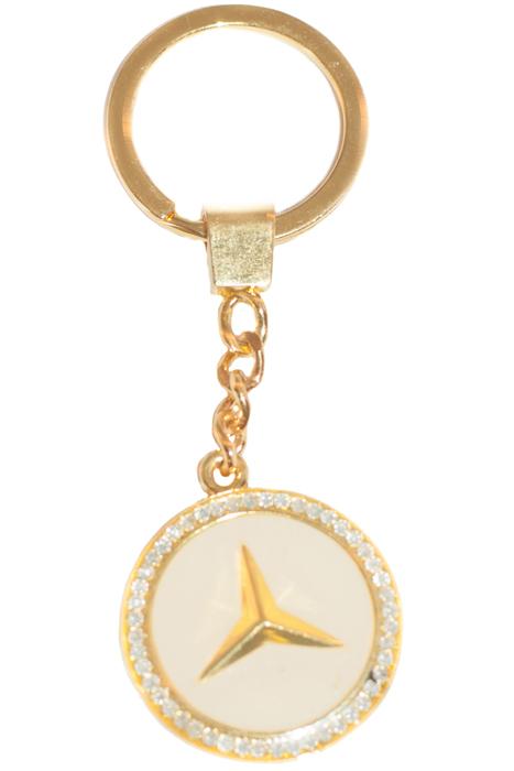 Брелок YusliQ, цвет: золотой. b1803МеталлОригинальный дизайнерский брелок YusliQ выполнен из оцинкованного металла и оформлен стразами.Такой брелок - отличный подарок для ценителей необычных украшений!