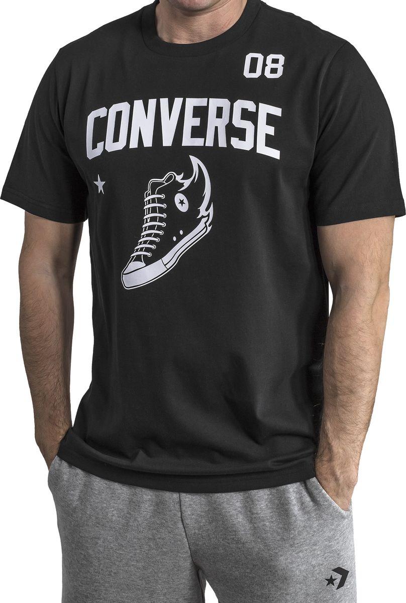 Футболка мужская Converse Chuck All-Star 08 Tee, цвет: черный. 10006751001. Размер L (50) футболка converse футболка awt drums sketchbook sig vneck tee