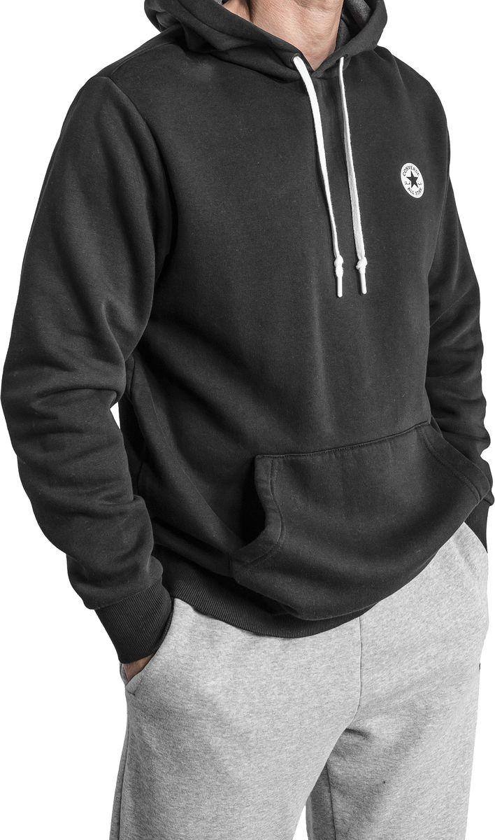 Толстовка мужская Converse Chuck Patch Graphic Pullover Hoodie, цвет: черный. 10006680001. Размер L (50) kangaroo pocket pullover hoodie