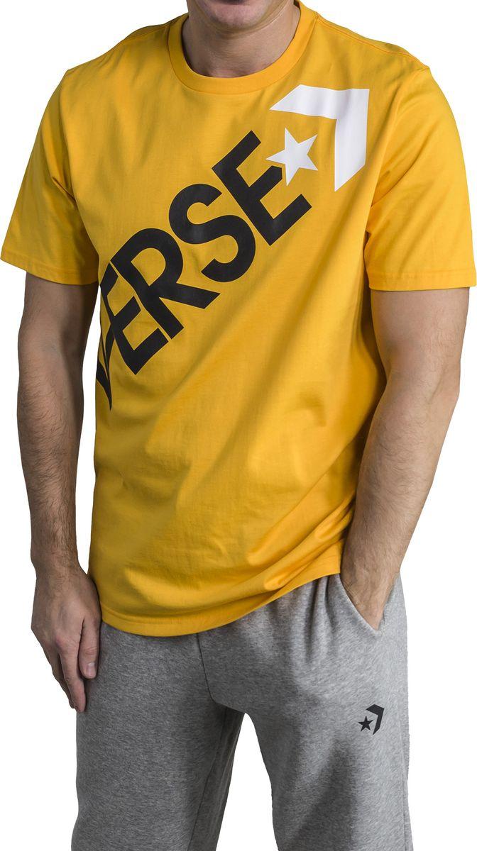 Футболка мужская Converse Cross Body Tee, цвет: желтый. 10005902839. Размер L (50) футболка converse футболка awt drums sketchbook sig vneck tee