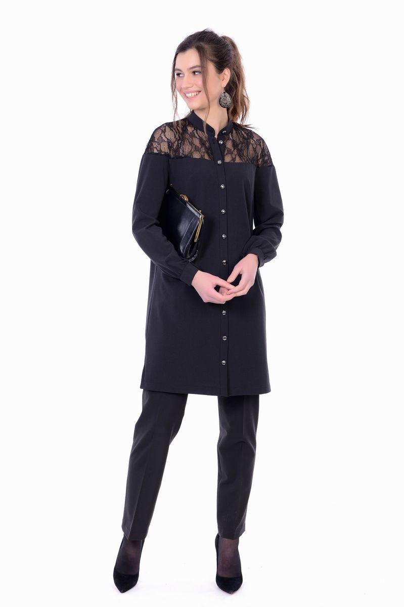 Платье женское Lautus, цвет: черный. 1134. Размер 54