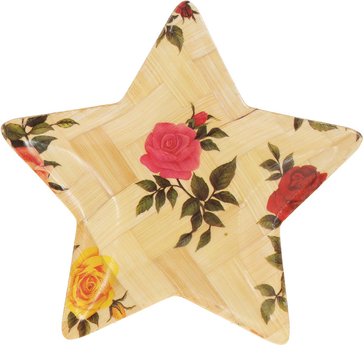 "Тарелка Wanxie ""Звезда.Розы"", 13,5 x 13,5 x 1 см"