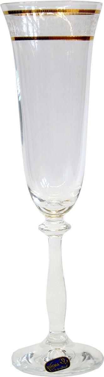 Набор бокалов для шампанского Bohemia Crystal Анжела, 190 мл, 6 шт bohemia crystal набор бокалов для шампанского felina 25 см 2 шт