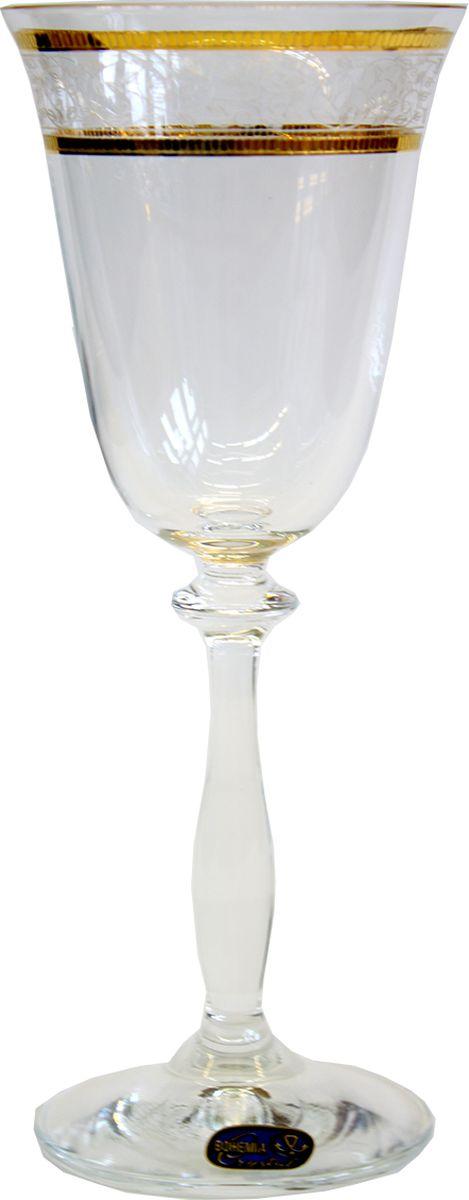 """Бокалы для вина Bohemia Crystal коллекции """"Анжела"""" порадуют не только вас, но и ваших гостей. Они обладают привлекательным внешним видом, а материалом их изготовления является высококачественное хрустальное стекло. Кроме того, красоту бокала подчеркивают полоски на прозрачных стенках, а также элегантная форма ножки."""