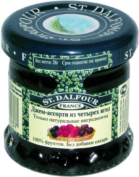 St.Dalfour Джем Ассорти из 4 ягод, 28 г gerber органик спелое манго 90г с 4 х мес