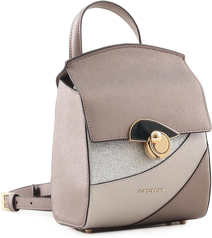 Рюкзак женский Cromia, цвет: серо-коричневый. 679 cromia 2335 blu