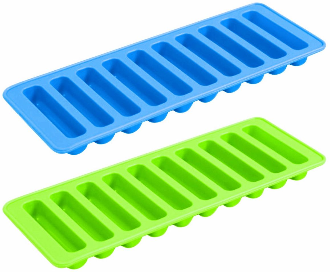 Формочки для льда и печенья Ruges Пати, цвет: зеленый, синий, 2 шт