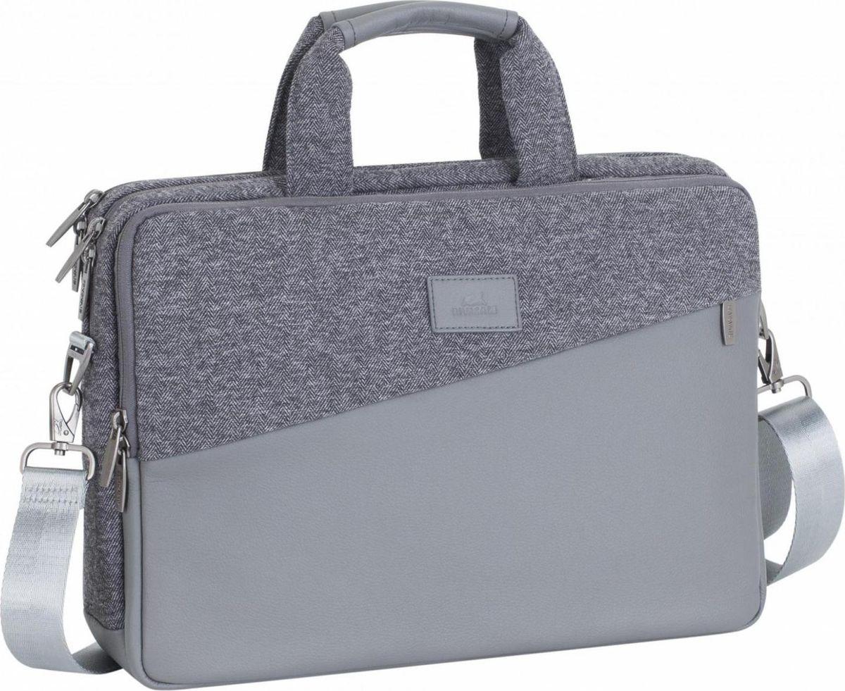 RivaCase 7930, Grey сумка для MacBook Pro 15,64260403573280Сумка для MacBook Pro 15 и Ultrabook 15.6. • Сумка выполнена из высококачественной искусственной кожи и полиэстера, имеет утолщенные стенки для лучшей защиты ноутбука от случайных ударов и царапин, а также от пыли и влаги. • Сумка имеет три отделения: - основное отделение для MacBook Pro 15 и Ultrabook 15.6;- центральное отделение поможет удобно разместить все необходимые документы, аксессуары и планшет до 10.1. - внутреннее отделение с карманом на молнии, оборудованное панелью-органайзером для хранения визитных карт, авторучек, смартфона. • Дополнительное внешнее отделение на молнии. • Двойная застежка молния для удобного доступа к устройству.• Металлическая, оригинальная фурнитура.• Удобные ручки для транспортировки. Ручки убираются во внешние отделения с двух сторон, что придает сумке более компактный вид. • Регулируемый, съемный плечевой ремень с накладкой.