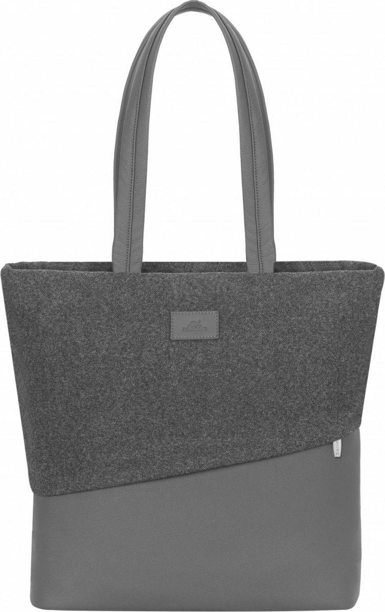 """RivaCase 7991, Grey сумка для MacBook Pro 134260403573334Сумка для MacBook Air / Pro 13 и Ultrabook 13.3. • Стильная женская сумка для ноутбуков до 13.3"""". • Сумка выполнена из плотной искусственной кожи и полиэстера для защиты ноутбука от случайных ударов и царапин, а также от пыли и влаги. • Вместительное основное отделение, оборудованное панелью-органайзером для хранения визитных карт, авторучек, смартфона. • Два дополнительных кармана (одно из них на молнии) помогут удобно разместить все необходимые аксессуары, планшет до 10.1 и документы.• Скрытый внешний карман на молнии для документов, смартфона. • Контрастная подкладка облегчает поиск необходимого гаджета. • Удобные удлиненные ручки для переноски сумки в руках или на плече."""