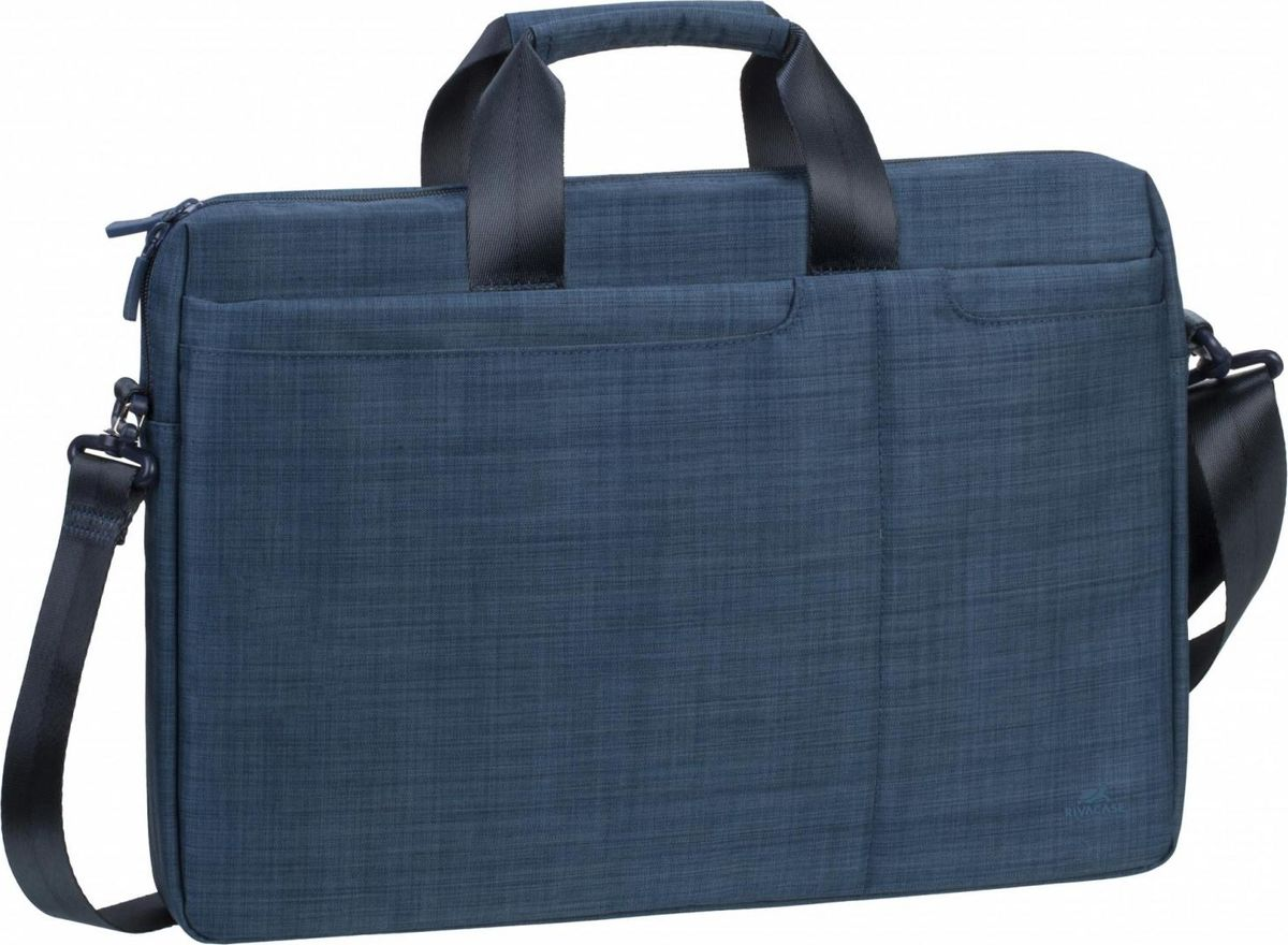 RivaCase 8335, Blue сумка для ноутбука 15,64260403570791Серия сумок для ноутбука 15.6• Изготовлена из высококачественной плотной ткани. • Основное отделение для ноутбука имеет также два внутренних отделения - для планшета до 10.1 и документов. • Два внешних передних кармана для быстрого доступа к смартфону, планшету. • Дополнительное внешнее отделение на молнии поможет удобно разместить все необходимые аксессуары, документы. • Двойная застежка молния для удобного доступа к устройству. • Удобные ручки для транспортировки. • Регулируемый, съемный плечевой ремень.