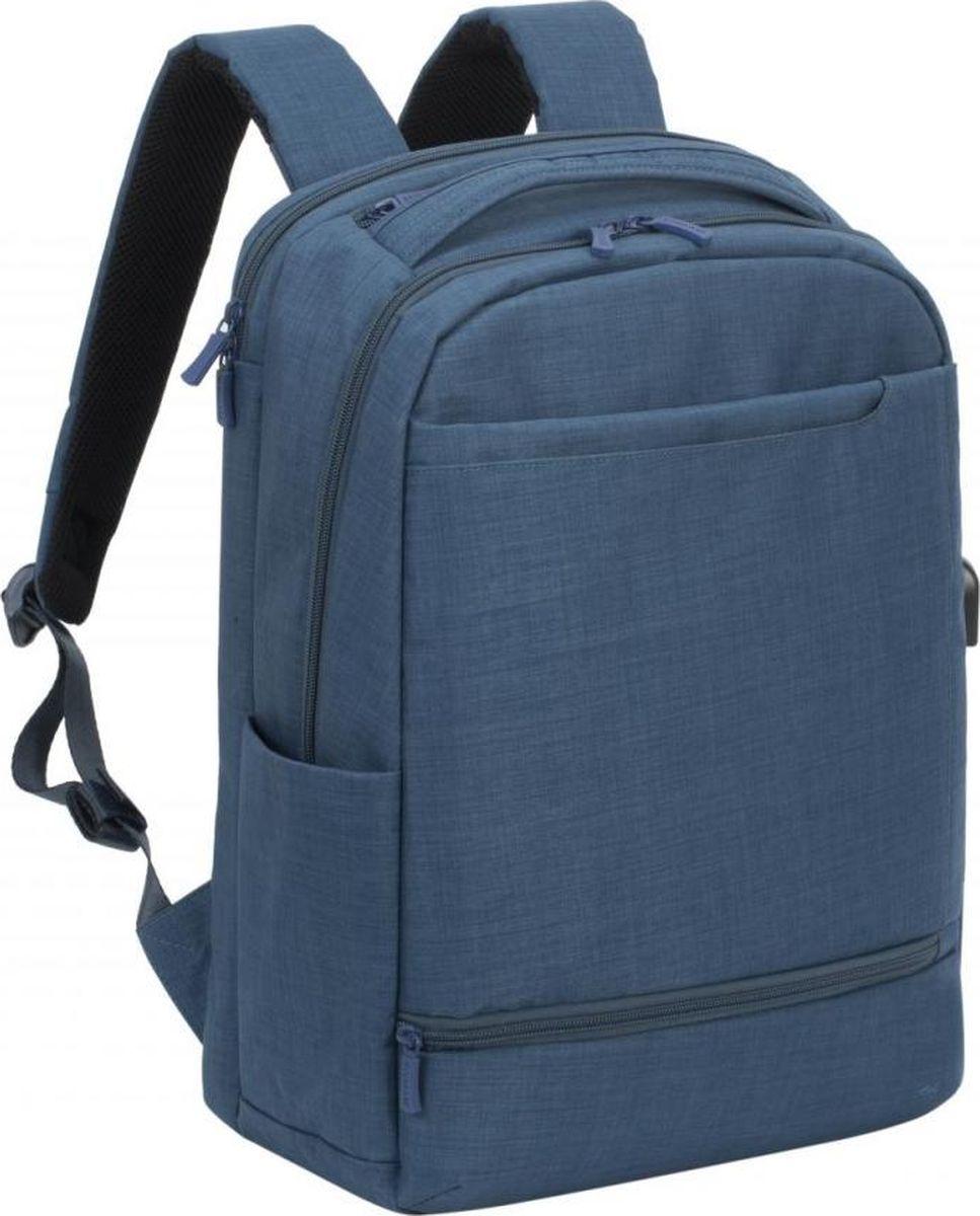 RivaCase 8365, Blue рюкзак для ноутбука 17.34260403573181Рюкзак для ноутбука до 17.3. • Рюкзак для геймеров, идеально подходит для деловых поездок и туристических путешествий. • Основное отделение для ноутбука с вертикальной загрузкой, имеет мягкие стенки, утолщенное дно и дополнительное внутреннее отделение для планшета до 10.1. • Просторная секция на молнии для хранения всех необходимых игровых аксессуаров - наушники, мышь, коврик, клавиатура. • На боковой стороне рюкзака имеется USB-порт для подключения портативного внешнего аккумулятора. • Два передних кармана на молнии и один на велкро для хранения аксессуаров, зарядного устройства, визитных карт, авторучек, смартфона, документов. • Удобная мягкая ручка для переноски и наплечные ремни со смягчающими подкладками помогут чувствовать себя комфортно в самом долгом путешествии. • Эргономичная спинка рюкзака обеспечивает циркуляцию воздуха для максимального комфорта вашей спины. • На задней стенке имеется ремень крепления к багажной сумке и скрытый карман на молнии для паспорта, бумажника. • Боковой карман для ёмкости с водой.