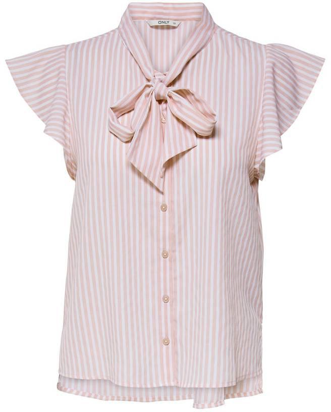 Блузка женская Only, цвет: белый. 15150874_Bright White. Размер 38 (44) платье only цвет черный 15137616 black размер 38 44