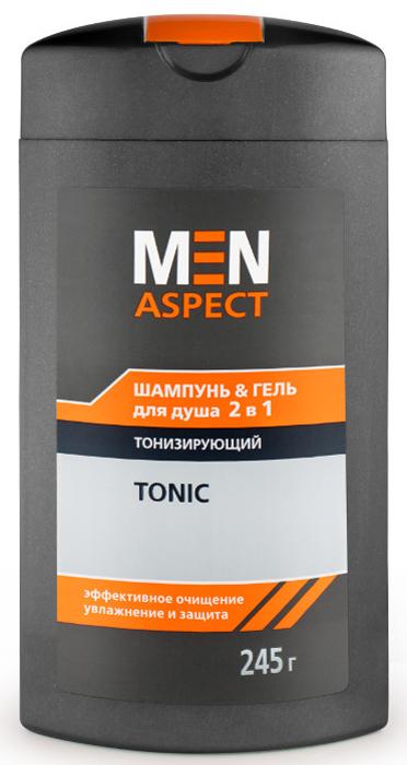 Modum Шампунь-Гель для душа 2в1 Тонизирующий Men Aspect, 245 г элансиль гель для душа тонизирующий 200мл