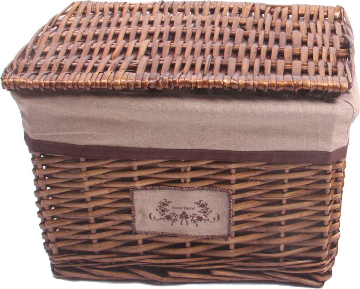 Корзина стеллажная Natural House Орех, прямоугольная, цвет: коричневый, 36 х 26 х 25 см