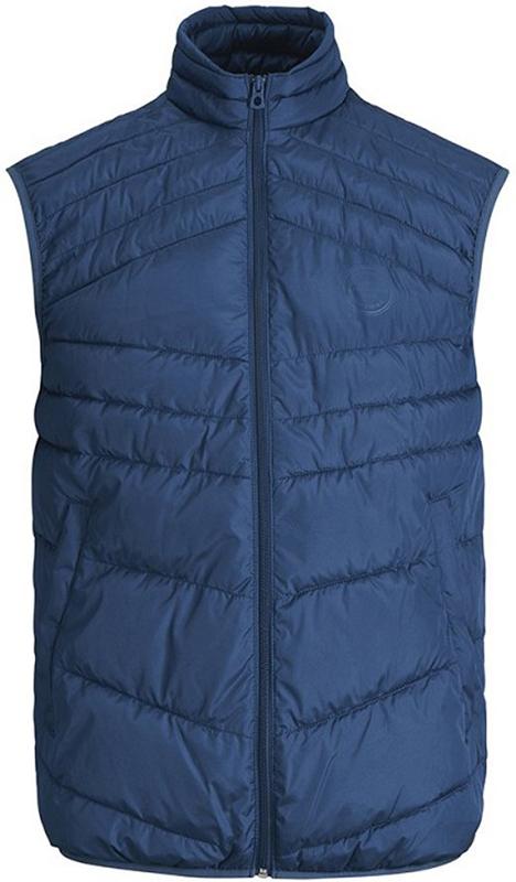Жилет утепленный мужской Jack & Jones, цвет: серо-синий. 12131247_Estate Blue. Размер L (50)