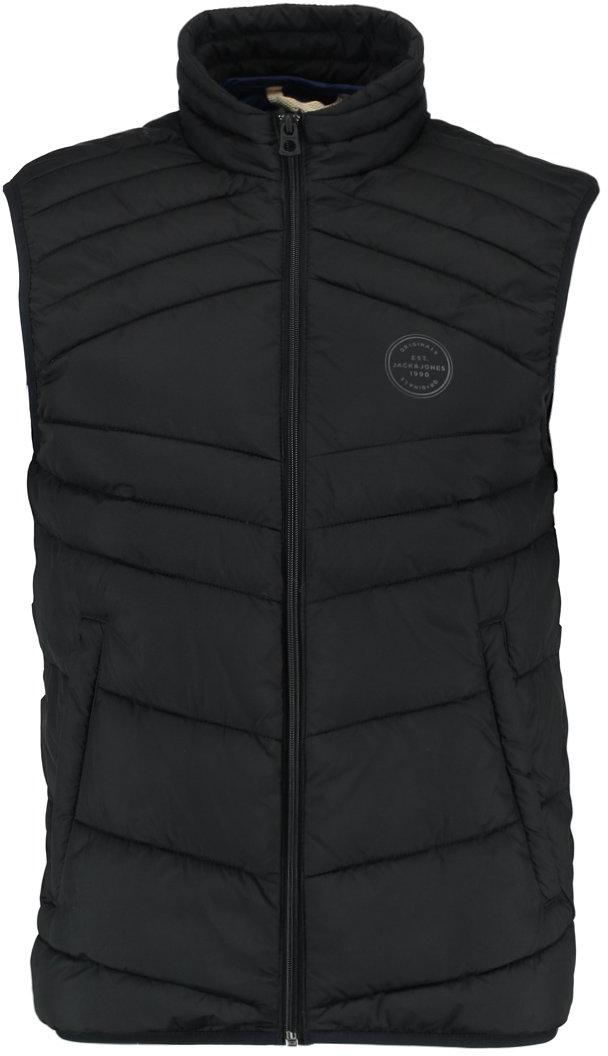 Жилет утепленный мужской Jack & Jones, цвет: черный. 12131247_Black. Размер L (50)