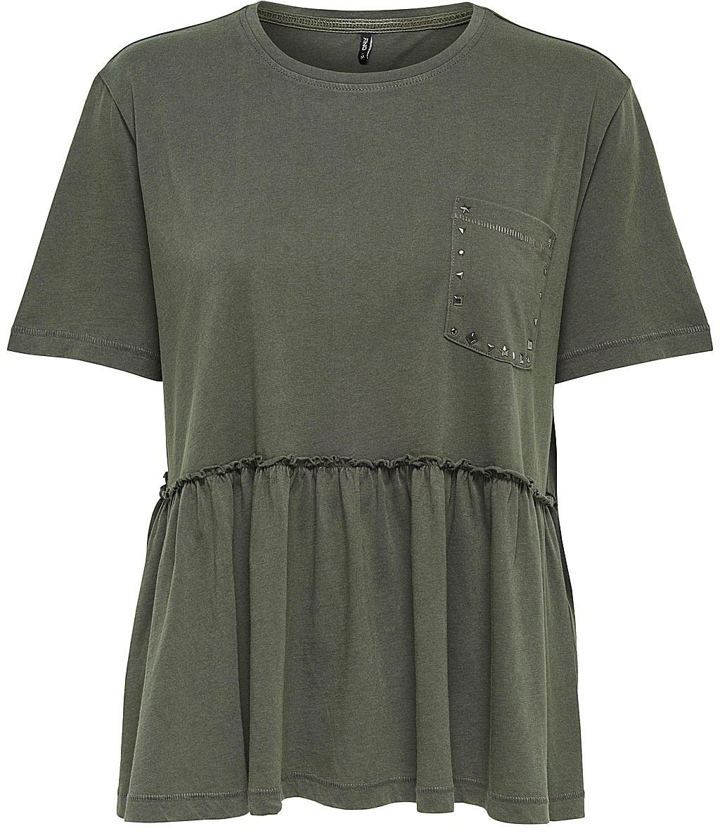 Футболка женская Only, цвет: серый. 15151015_Beluga. Размер XS (40) футболка женская only цвет черный 15153555 размер m 44