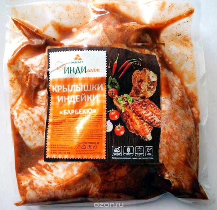 Индилайт Крылышки индейки Барбекю, охлажденные 1 кг348_3Требует тепловой кулинарной обработки. Постное, диетическое, большое содержание витаминов и минералов. Высокое содержание белка. Гипоаллергенное.