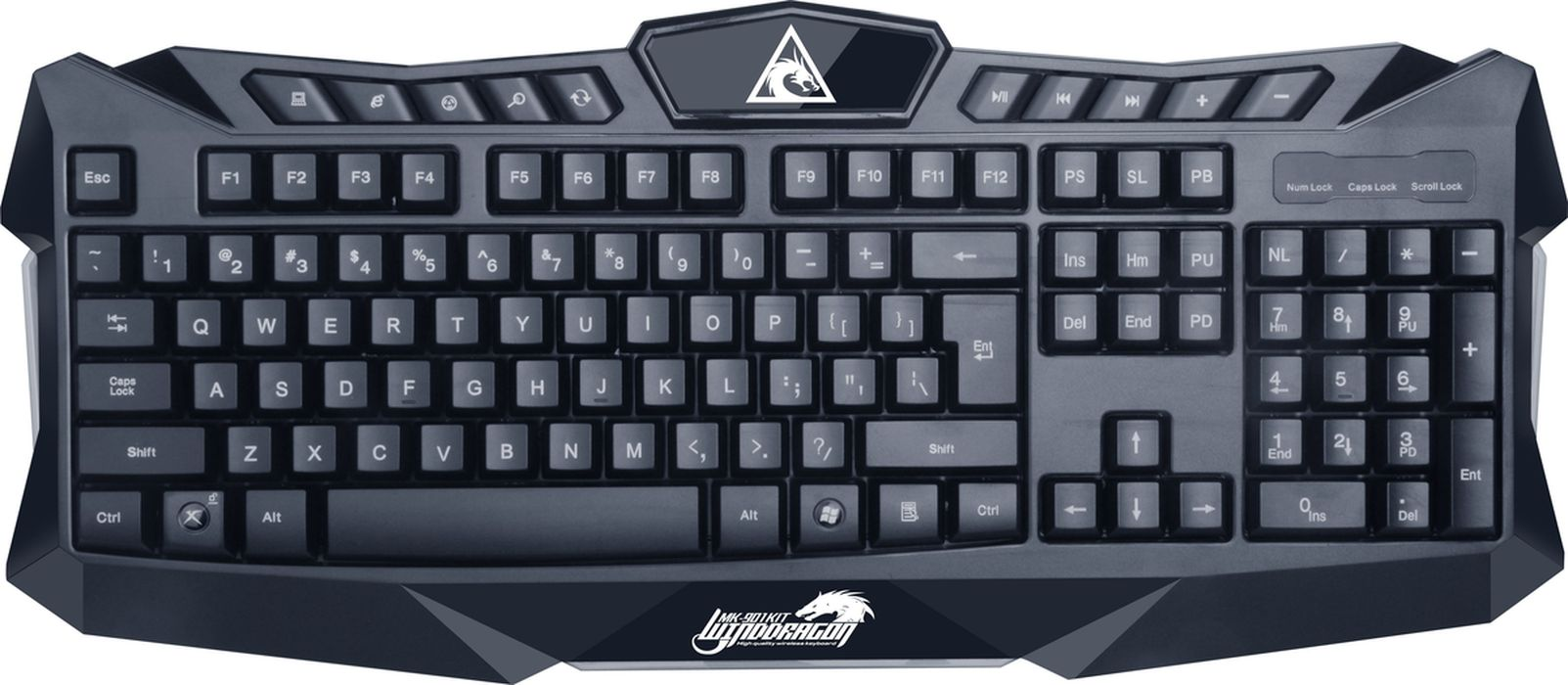 Комплект игровая мышь + клавиатура Xtrike Me MK-901KIT, Black