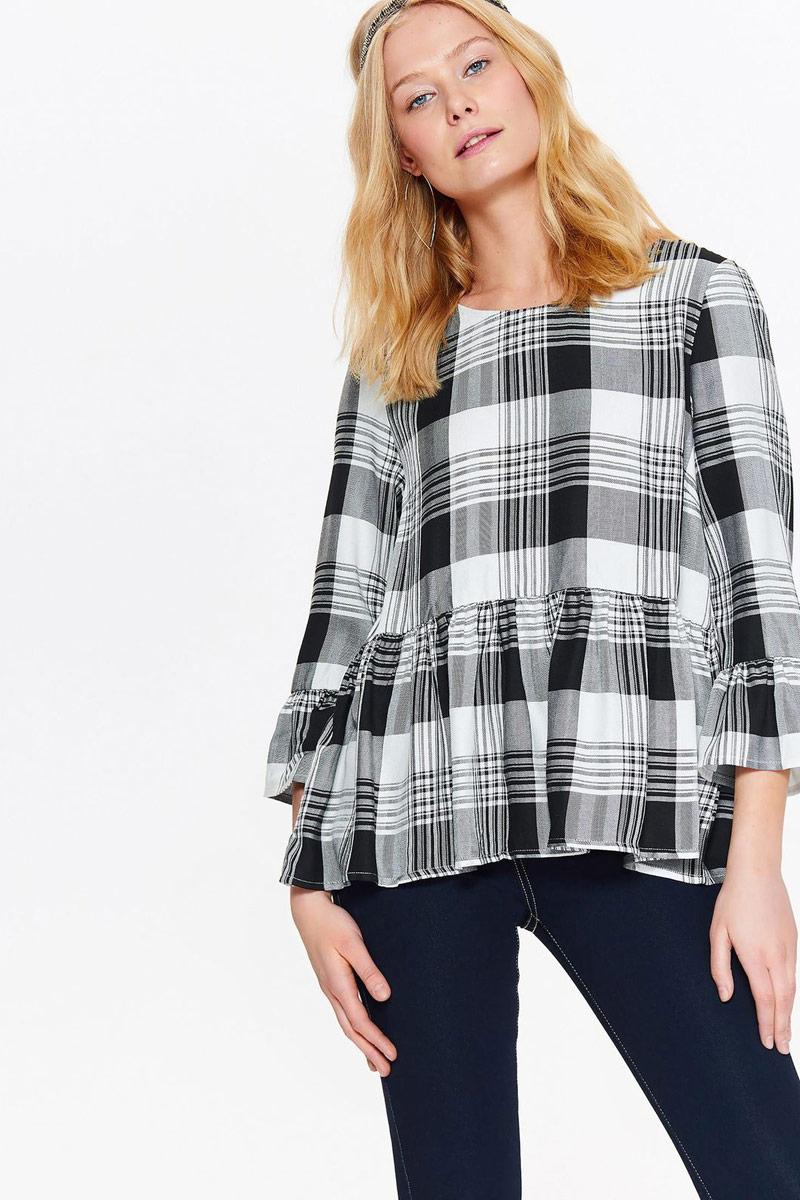 Блузка женская Top Secret, цвет: черный. SBD0815CA. Размер 42 (50) свитер с длинным рукавом quelle top secret 1022456