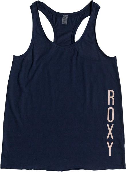 Купить Майка женская Roxy, цвет: темно-синий. ERJZT04205-BTK0. Размер L (46)