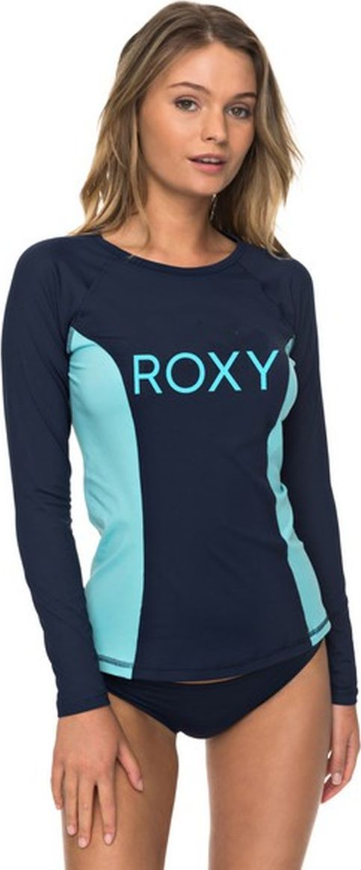 Футболка для плавания женская Roxy, цвет: синий. ERJWR03210-BTK0. Размер L (46) маска для сноуборда женская roxy sunset art series true black savanna