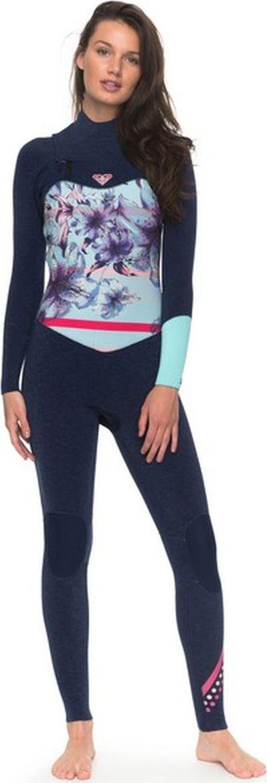 Купальный костюм Roxy, цвет: синий. ERJW103036-BTE0. Размер 4 (42)ERJW103036-BTE0Купальный костюм от Roxy выполнен из высококачественного быстросохнущего материала. Модель с длинными рукавами и воротником-стойкой на спинке застегивается на кнопки.