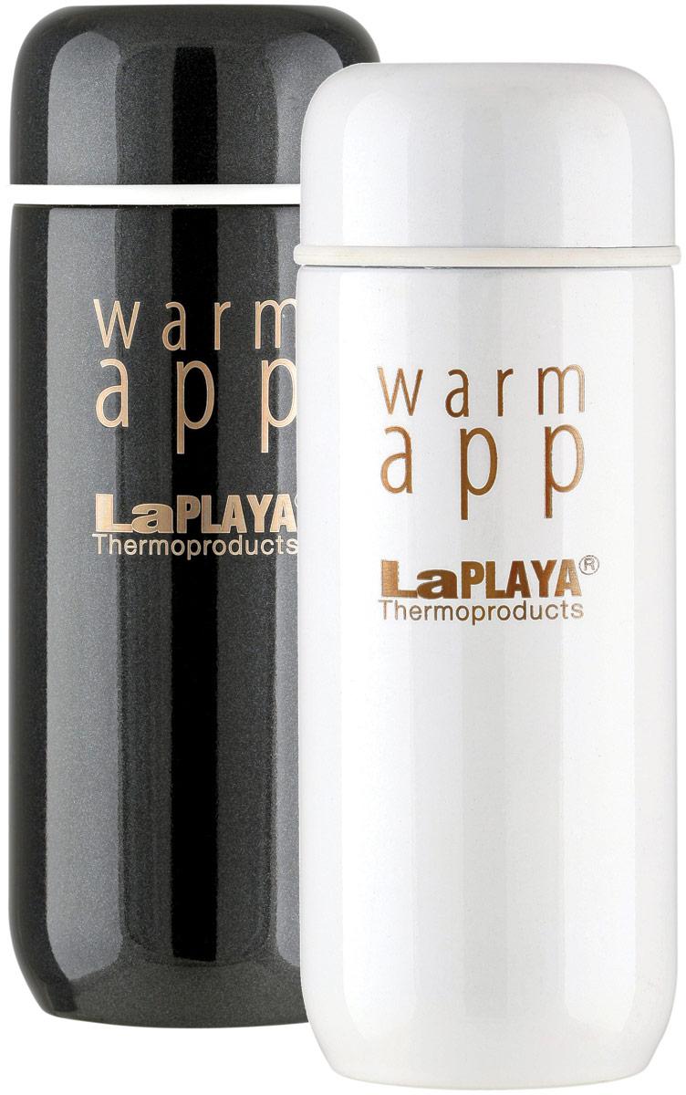 Набор термосов LaPlaya Warm App, цвет: черный, белый, 0,2 л, 2 шт термокружка laplaya 560035 warm app