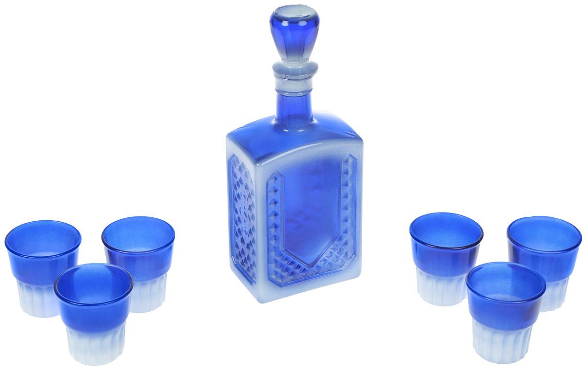 Набор питьевой Декостек Мера, цвет: синий, 7 предметов2311060_синийНабор питьевой Декостек Мера, цвет: синий, 7 предметов