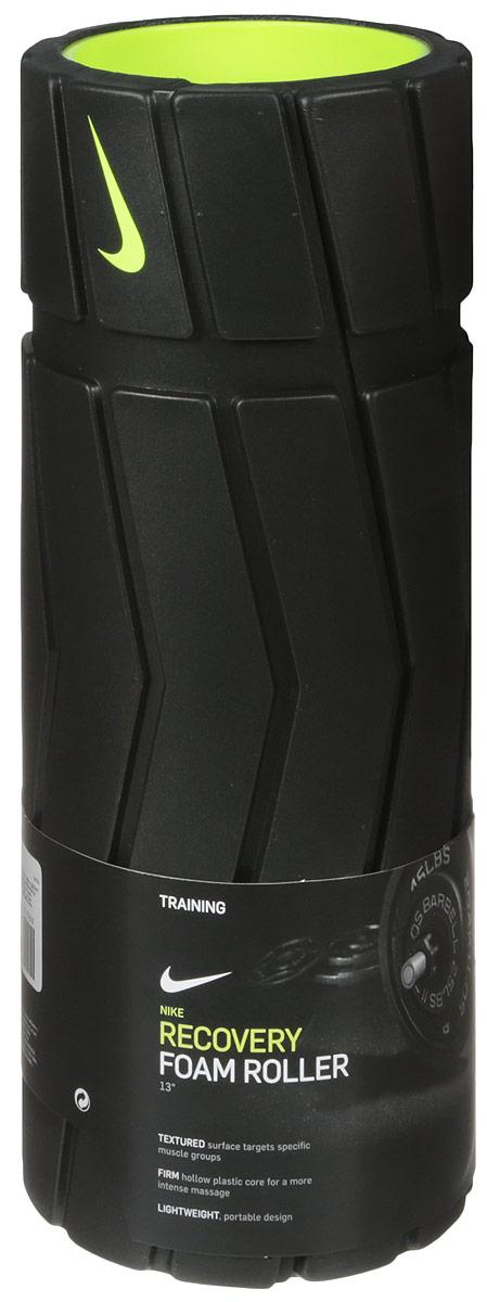 Массажный роллер Nike Recovery Foam Roller 13in, цвет: черный, желтый network recovery