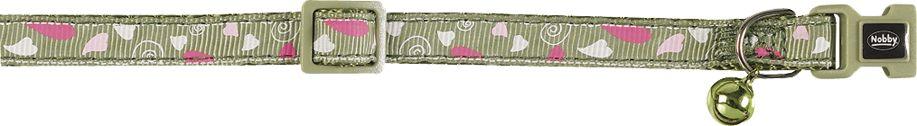 Ошейник Nobby Сердечки, для кошек, универсальный, цвет: оливковый77900Яркий ошейник Nobby «Сердечки», изготовленный из нейлона, станет отличным украшением Вашего любимца. Ошейник имеет удобную пластиковую застежку и бубенчик. Благодаря системе регулирования изделие можно настроить под размер шеи питомца. Ширина ошейника: 1 см, длина регулируется от 20 до 30 см.Изделие можно стирать.