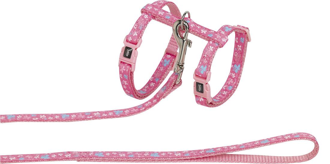 Шлейка Nobby  Minni , для кошек, универсальный, цвет: розовый - Товары для прогулки и дрессировки (амуниция)