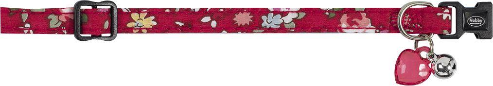 Ошейник Nobby Цветочный, для кошек, универсальный, цвет: красный78002-01Яркий ошейник Nobby «Цветочный», изготовленный из нейлона, станет отличным украшением Вашего любимца. Ошейник имеет удобную и безопасную пластиковую застежку, бубенчик и декоративное прозрачное сердечко. Благодаря системе регулирования изделие можно настроить под размер шеи питомца.