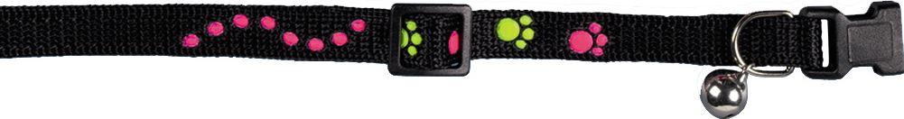 Ошейник Nobby Лапки, для кошек, универсальный, цвет: черный чехол универсальный nobby comfort wm 001 для телефонов s кожа черный