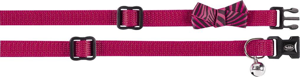 Ошейник Nobby Бабочка, для кошек, универсальный, цвет: розовый петлайн ошейник с поводком нейлоновый для кошек и собак petline бабочка