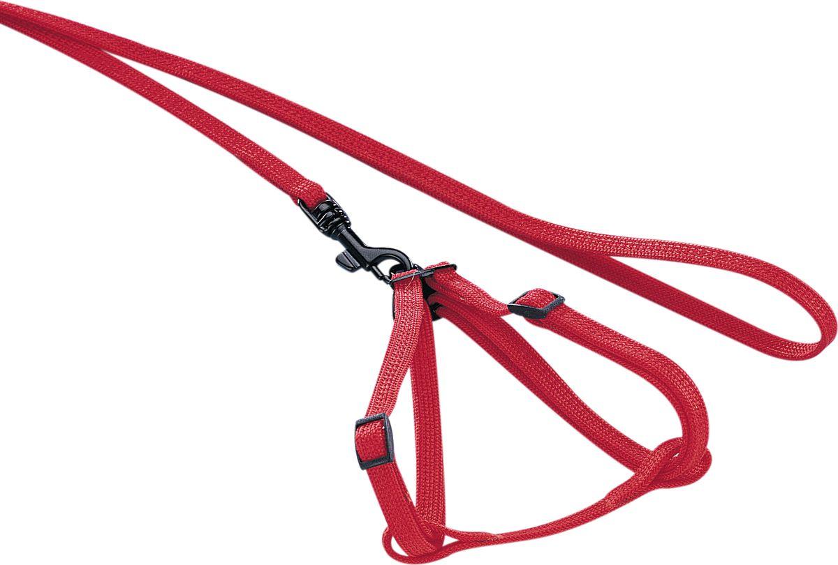 Шлейка Nobby, для грызунов, универсальный, цвет: красный