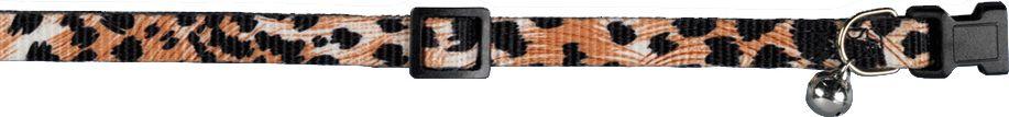 Ошейник Nobby Леопард, для кошек, универсальный, цвет: черный, коричневый78072Практичный ошейник Nobby Леопард, для кошек. Он станет отличным украшением для Вашего любимца. У ошейника удобная пластиковая застежка и мелодичный бубенчик. Благодаря системе регулирования Вы сможете подогнать его размер идеально под Вашего питомца. Ширина ошейника 1 см, длинна регулируется от 20 до 30 см.Ошейник изготовлен из нейлона, можно стирать.