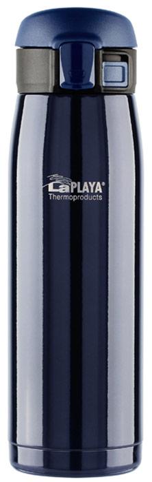 Кружка-термос LaPlaya Travel Tumbler, цвет: синий, 0,5 л560113Серия термосов Bubble Safe яркая и конструктивная, создана в двух литражах 0,35л и 0,5л ипредназначена для сохранения не только горячих напитков, но и охлажденныхгазированных. Это преимущество достигается благодаря специальной конструкцииоткидной крышки-пробки. Предполагается питье прямо из термоса, что очень удобно вовремя занятий спортом и в автомобиле. Достаточно просто откинуть пробку однимдвижением руки и термос готов к использованию. Так же быстро можно закрыть его,опустив крышку вниз и защелкнув предохранительный фиксатор. В таком положении термоссохраняет абсолютную герметичность и может свободно перемещаться в любой сумке илирюкзаке. Теперь любимые газированные напитки можно перелить в термос и они надолгосохранят свою прохладу. Невозможно представить себе более простой способиспользования термоса «на ходу» кроме как, просто откинув его крышку одной рукой.Термосы серии Bubble Safe удобно располагаются в автомобильных держателях стаканов.Марка нержавеющей стали внутри и снаружи 18/8. Термос для напитков изнержавеющей стали серии Bubble Safe 0.5 литра.