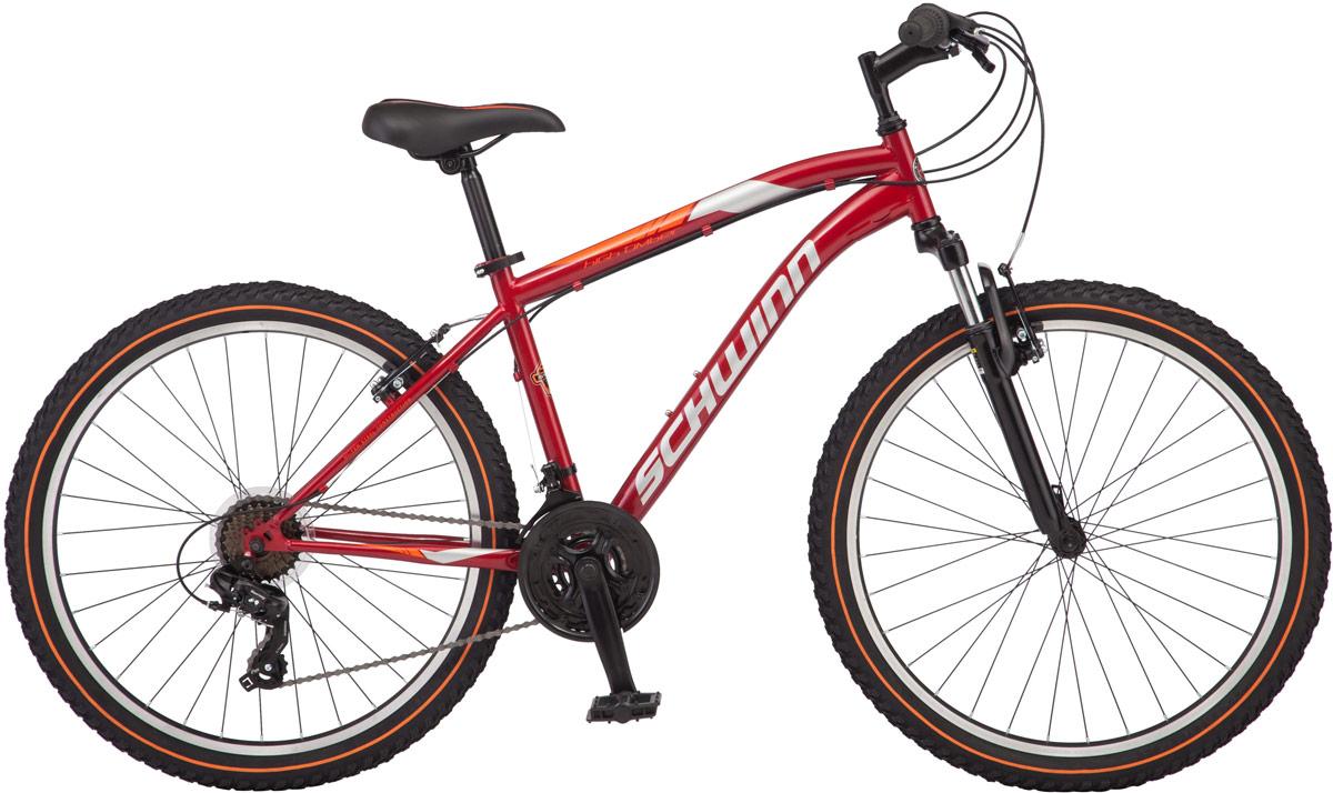 Велосипед горный Schwinn High Timber, цвет: красный, колесо 26