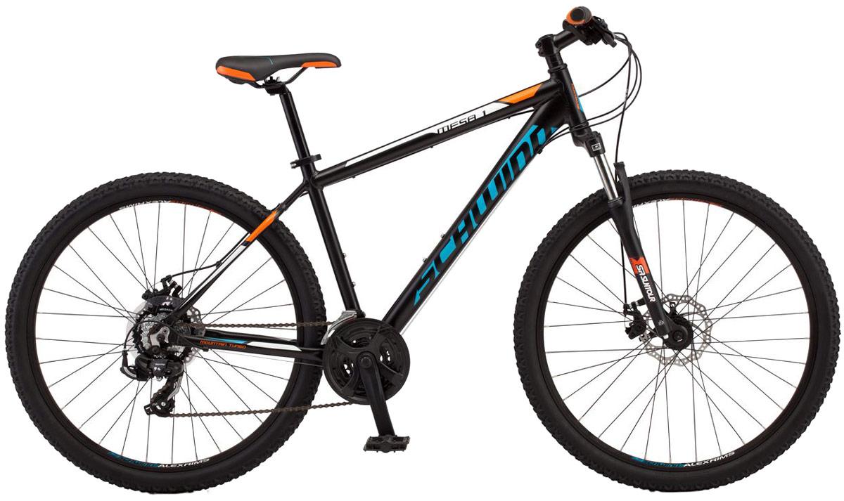 Велосипед горный Schwinn Mesa 1, цвет: черный, колесо 27,5, рама L