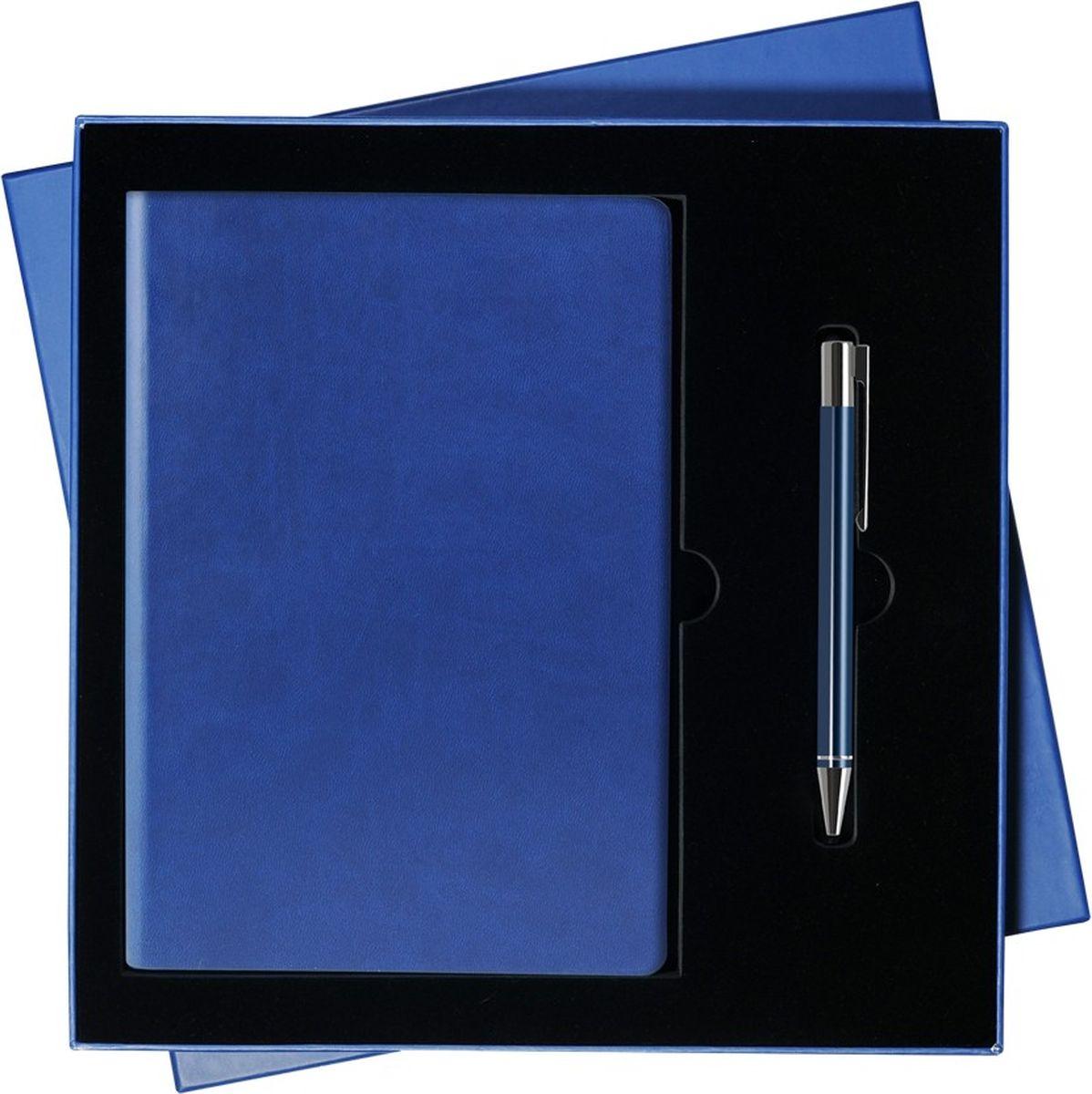 Portobello Trend Подарочный набор Latte GS-092-24GS-092-24-BLUE-LATTEВ набор входят: - недатированный ежедневник формата A5 (содержит 256 страниц); - шариковая ручка Regatta с алюминиевым корпусом (отделка - хромированные детали).